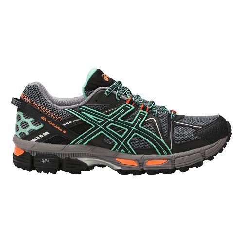 Womens ASICS GEL-Kahana 8 Trail Running Shoe - Black/Mint/Orange 11.5