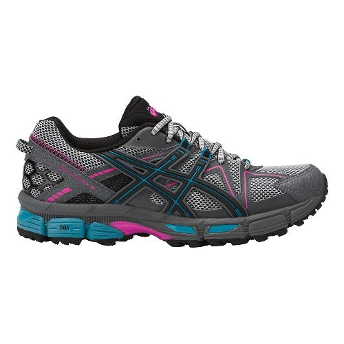 Womens ASICS GEL-Kahana 8 Trail Running Shoe - Black/Teal/Pink 12