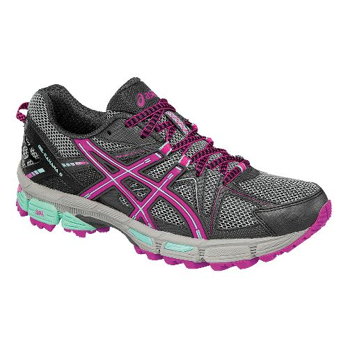 Womens ASICS GEL-Kahana 8 Trail Running Shoe - Dark/Pink 11
