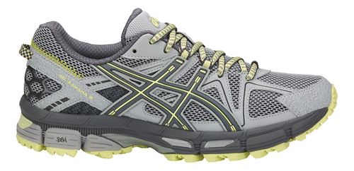Womens ASICS GEL-Kahana 8 Trail Running Shoe - Grey/Carbon/Lime 12