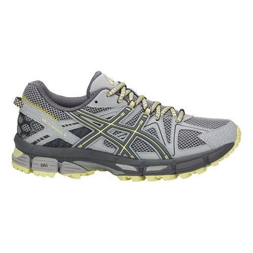 Womens ASICS GEL-Kahana 8 Trail Running Shoe - Grey/Carbon/Lime 10.5