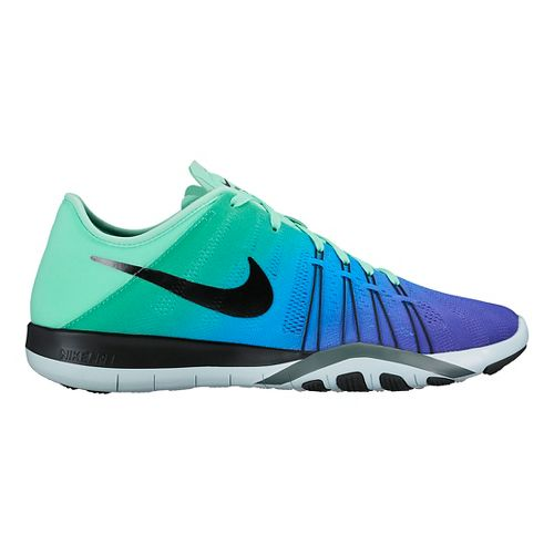 Womens Nike Free TR 6 Spectrum Cross Training Shoe - Green Glow/Blue 7.5