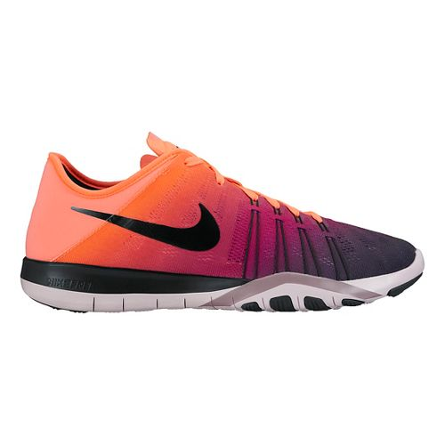 Womens Nike Free TR 6 Spectrum Cross Training Shoe - Mango/Purple 8.5