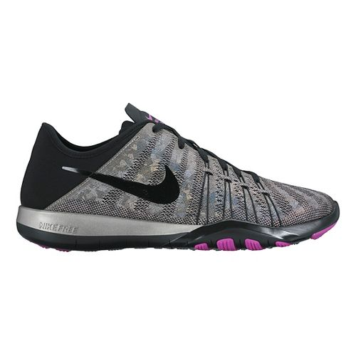 Womens Nike Free TR 6 Metallic Cross Training Shoe - Metallic Silver 10