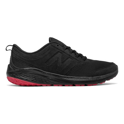 Womens New Balance 85v1 Walking Shoe - Black/Pink 9