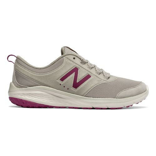 Womens New Balance 85v1 Walking Shoe - Tan/Jewel 8.5