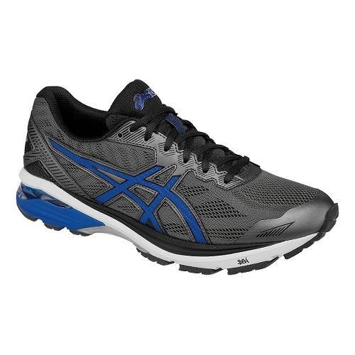 Mens ASICS GT-1000 5 Running Shoe - Grey/Blue 8.5