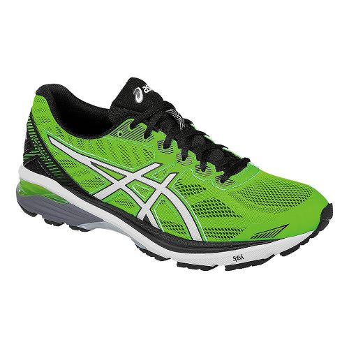 Mens ASICS GT-1000 5 Running Shoe - Green/White 8