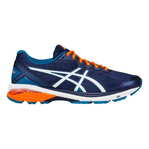 Mens ASICS GT-1000 5 Running Shoe - Blue/Snow 8