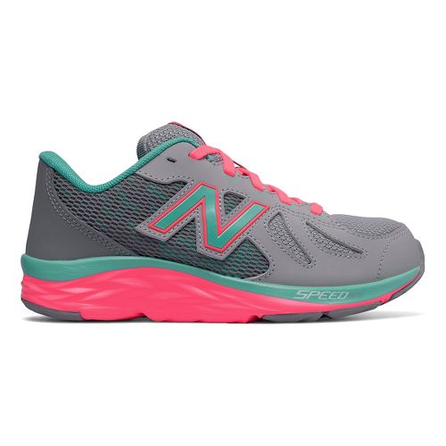 Kids New Balance 790v6 Running Shoe - Grey/Green 10.5C
