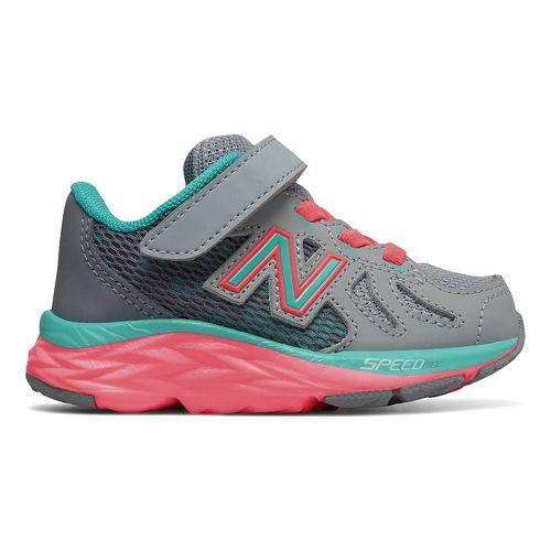 Kids New Balance 790v6 Running Shoe - Grey/Green 9.5C