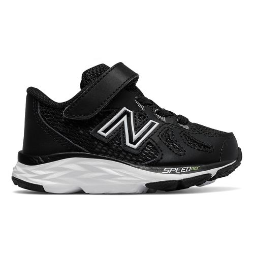 Kids New Balance 790v6 Running Shoe - Black/White 8C