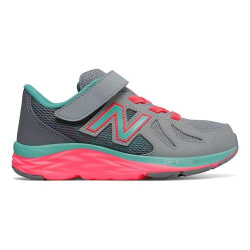 Kids New Balance 790v6 Running Shoe - Grey/Green 12C