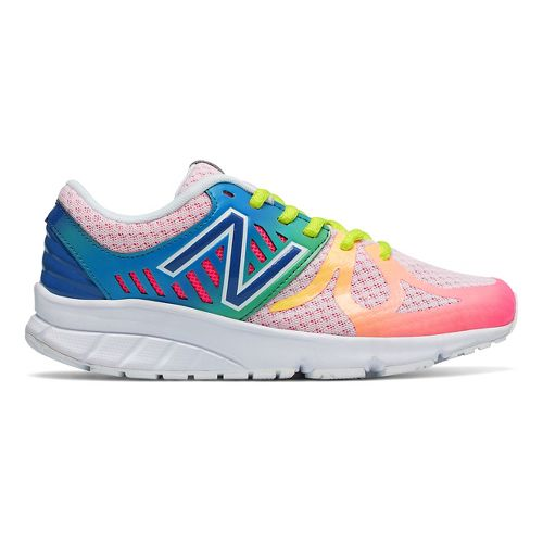 Kids New Balance 200v1 Running Shoe - White/Rainbow 5Y