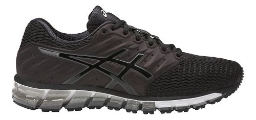Mens ASICS GEL-Quantum 180 2 Running Shoe - Black/Carbon 9.5