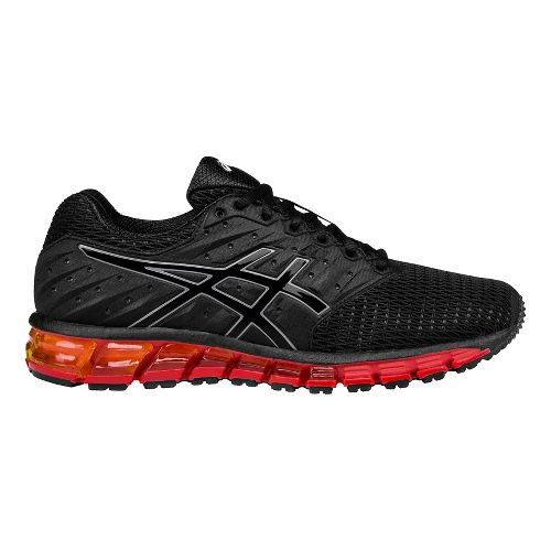 Mens ASICS GEL-Quantum 180 2 Running Shoe - Black/Vermilion 9.5