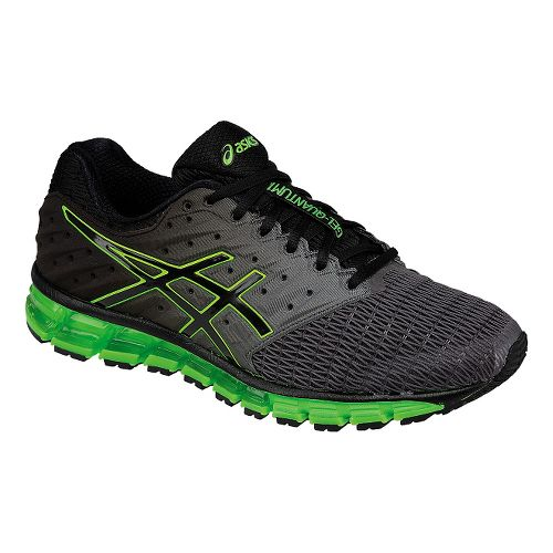 Mens ASICS GEL-Quantum 180 2 Running Shoe - Dark Grey/Green 10.5