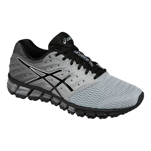 Mens ASICS GEL-Quantum 180 2 Running Shoe - Grey/Black 11