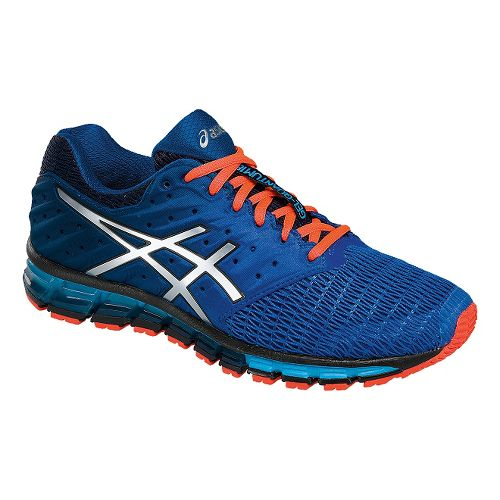Mens ASICS GEL-Quantum 180 2 Running Shoe - Navy/Coral 7.5