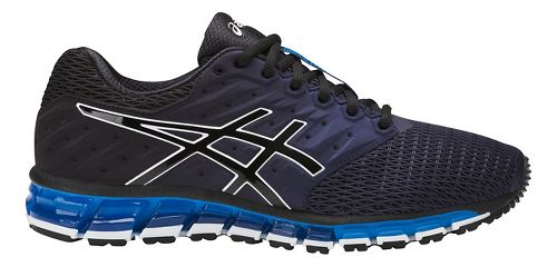 Mens ASICS GEL-Quantum 180 2 Running Shoe - Navy/Black 12.5