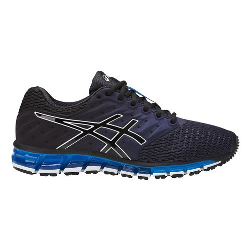Mens ASICS GEL-Quantum 180 2 Running Shoe - Navy/Black 14