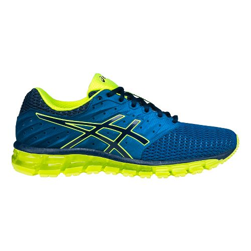 Mens ASICS GEL-Quantum 180 2 Running Shoe - Yellow/Blue 9.5