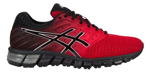 Mens ASICS GEL-Quantum 180 2 Running Shoe - Red/Black 12