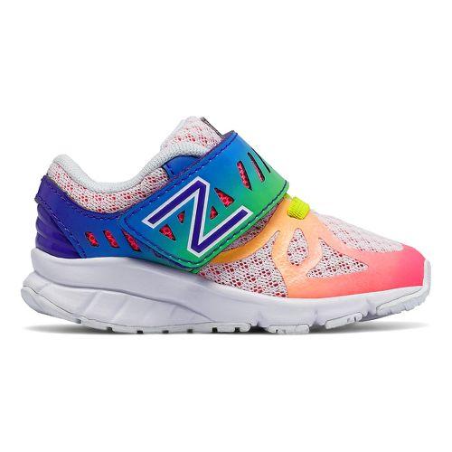 Kids New Balance 200v1 Running Shoe - White/Rainbow 5.5C