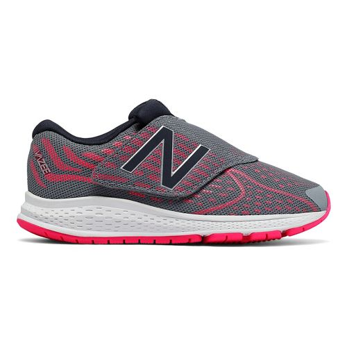 New Balance RushV2 Velcro Running Shoe - Grey/Pink 1Y
