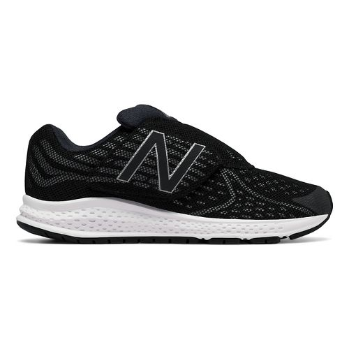 Kids New Balance Rush v2 Velcro Running Shoe - Black/Silver 12C