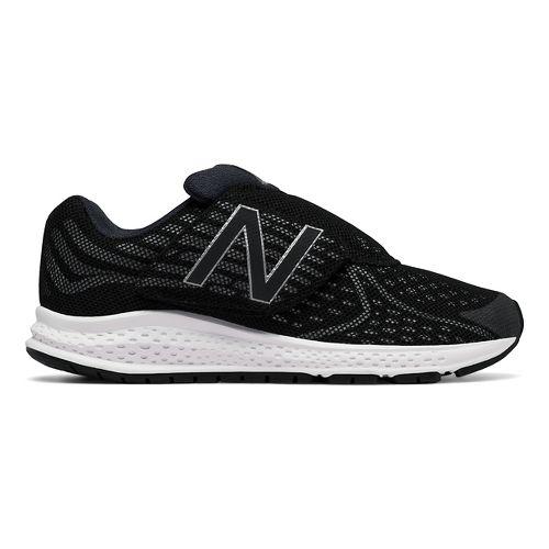 Kids New Balance Rush v2 Velcro Running Shoe - Black/Silver 3Y