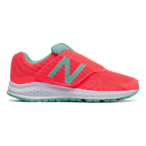 Kids New Balance Rush v2 Velcro Running Shoe - Pink/Teal 2.5Y