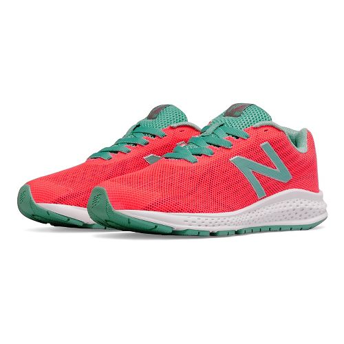 Kids New Balance Rush v2 Running Shoe - Pink/Teal 3.5Y