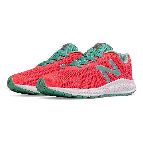 Kids New Balance Rush v2 Running Shoe - Pink/Teal 6.5Y