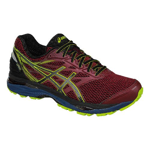 Mens ASICS GEL-Cumulus 18 G-TX Running Shoe - Dark Red/Black 10.5
