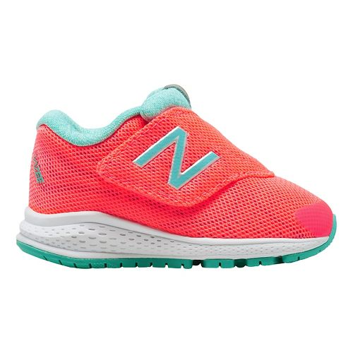 Kids New Balance Rush v2 Running Shoe - Pink/Teal 5.5C