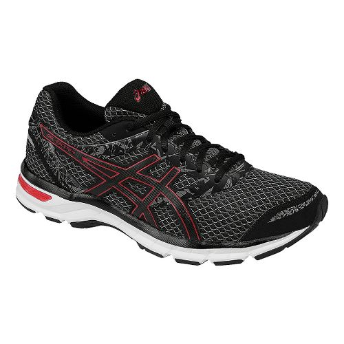 Mens ASICS GEL-Excite 4 Running Shoe - Black/Red 12.5