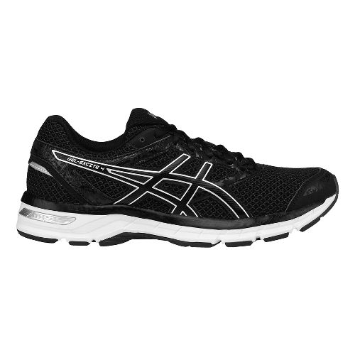 Mens ASICS GEL-Excite 4 Running Shoe - Black/Silver 15