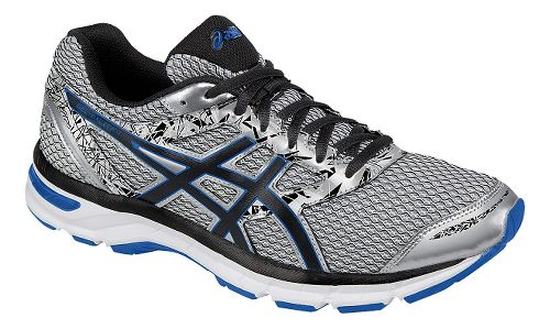 Mens ASICS GEL-Excite 4 Running Shoe - Silver/Black 7