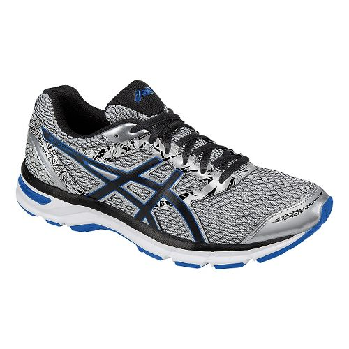 Mens ASICS GEL-Excite 4 Running Shoe - Silver/Black 8