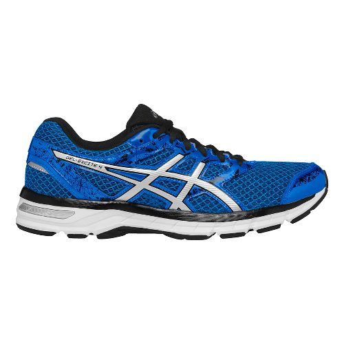Mens ASICS GEL-Excite 4 Running Shoe - Blue/Silver 12.5