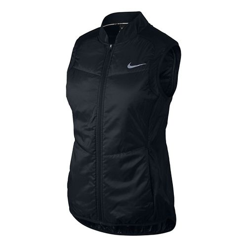 Womens Nike Polyfill Running Vest - Black/Black L