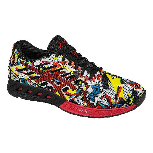 Mens ASICS fuzeX Comic Running Shoe - Black/Red/White 8.5