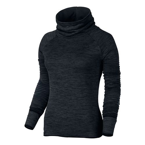 Womens Nike Therma Sphere Element Running Long Sleeve Technical Tops - Black/Heather XL