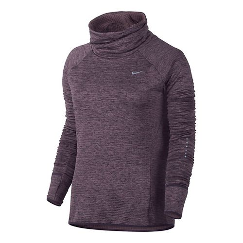 Womens Nike Therma Sphere Element Running Long Sleeve Technical Tops - Purple Shade L
