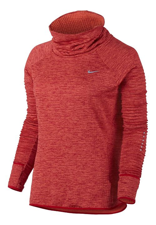 Womens Nike Therma Sphere Element Running Long Sleeve Technical Tops - Turf Orange L
