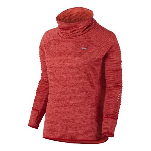 Womens Nike Therma Sphere Element Running Long Sleeve Technical Tops - Turf Orange XL