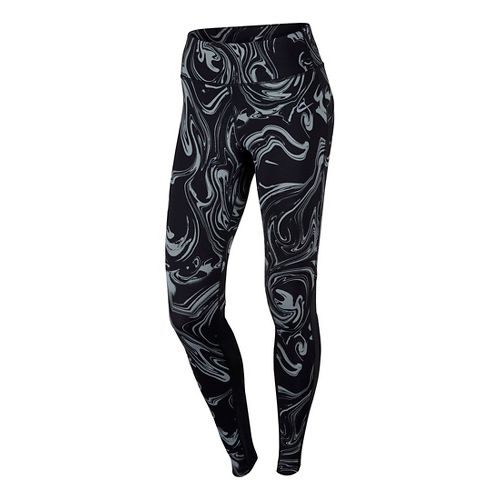 Womens Nike Power Epic Lux Printed Tights & Leggings - Black XS