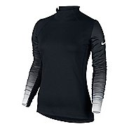 Womens Nike Pro Hyperwarm Long Sleeve Technical Tops