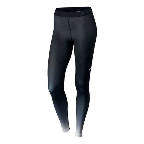 Womens Nike Pro Hyperwarm Tights & Leggings - Black/White S